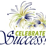 Celebrate Success Logo w 3 fireworks
