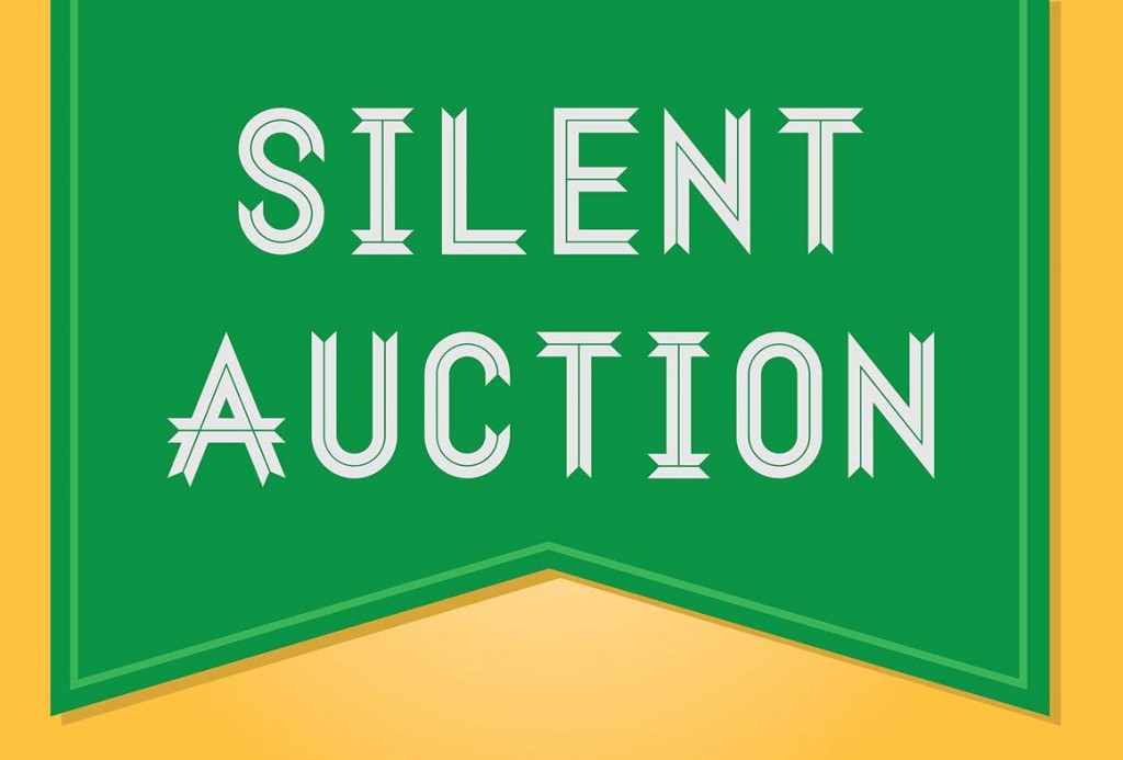 silent auction badge