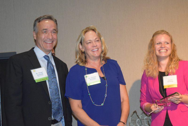 Drs Roger and Pamela Schmidt, Carrie Bohling