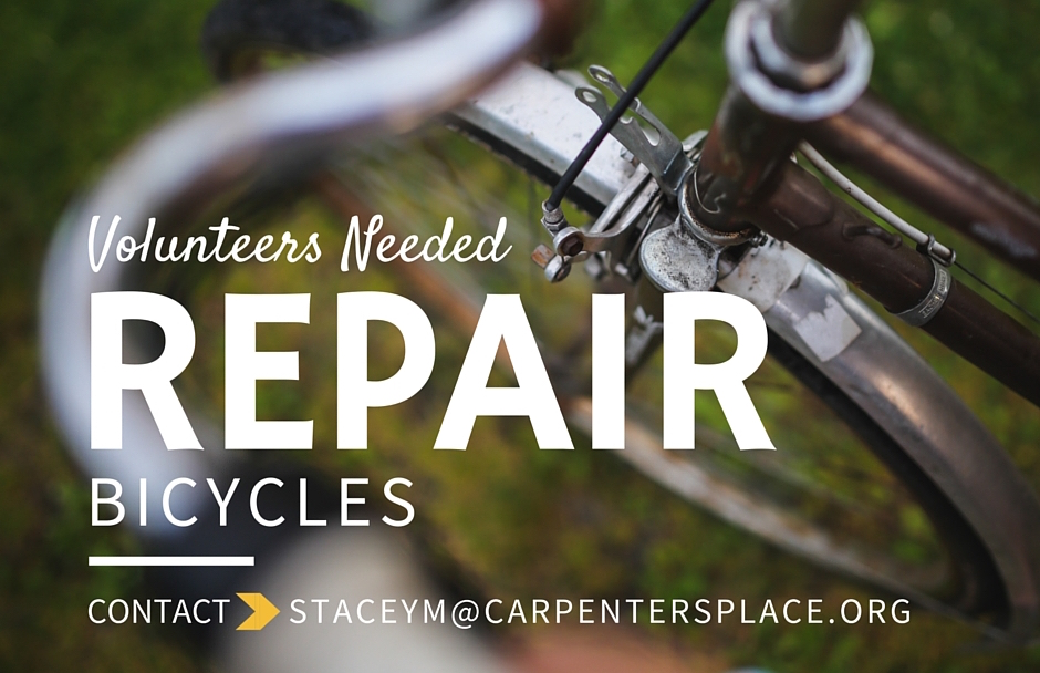 CP volunteers needed bike repair web
